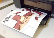 Imprima a folha. Sugiro a impressão em papel couchê.